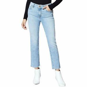 Sanctuary Women's Jeans Blue Crop Straight Leg